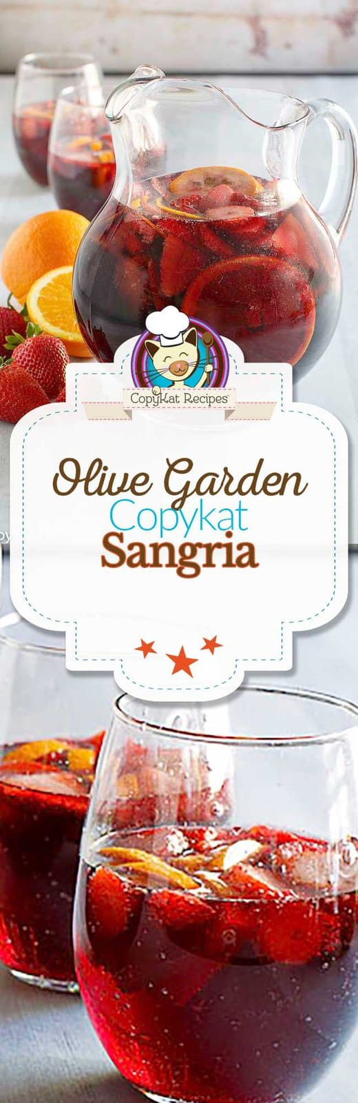You can recreate the original Olive Garden Sangria recipe at home with this easy copycat recipe.   #copycat #copycatrecipe #sangria