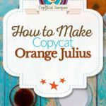 homemade Orange Julius photo collage
