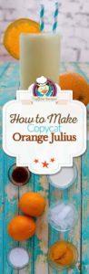 homemade Orange Julius photo collage