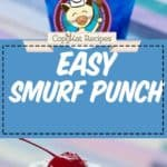 smurf blue punch photo collage