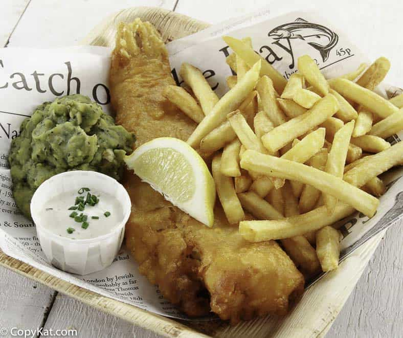 Beer Battered Fish and Chips in a basket