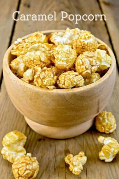 Caramel popcorn is a wonderful treat for those who like it salty and sweet.
