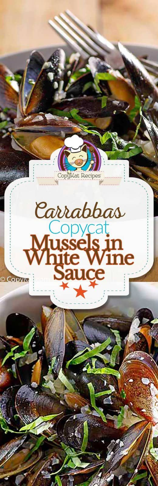 Recreate Carrabbas Mussels with White Wine Sauce at home with this copycat recipe.