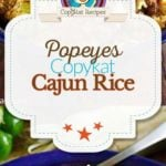 Collage of homemade Popeyes Cajun Rice photos