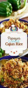 Collage of homemade Popeyes Cajun Rice photos