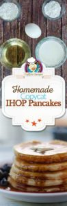 Collage of homemade copycat IHOP Buttermilk Pancakes photos.