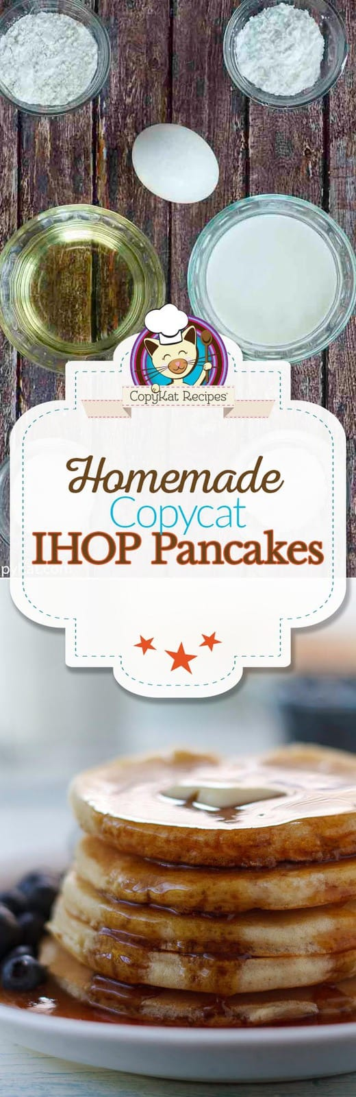 Make your own homemade copycat IHOP Buttermilk Pancakes from scratch!