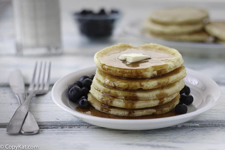 You can make delicious IHOP Buttermilk pancakes at home with this easy copycat recipe.