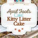 Kitty litter box cake photo collage