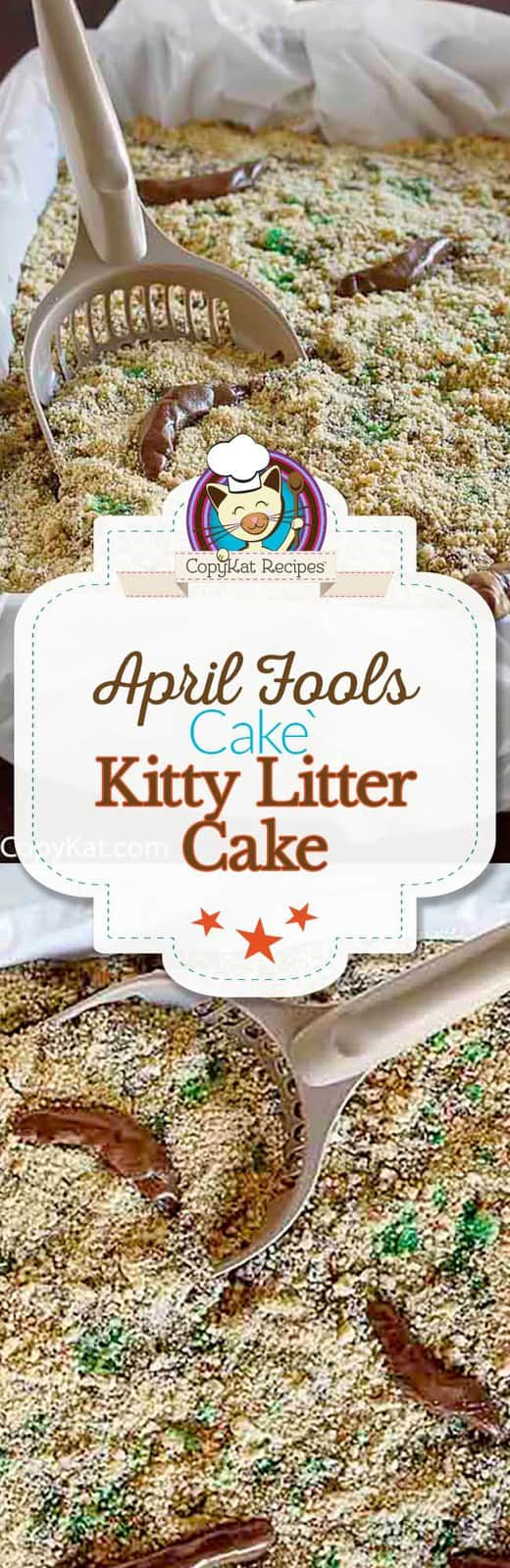 It may look like a kitty litter box, but it's really a crazy looking cake.