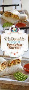breakfast burrito photo collage