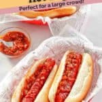 hot dogs cooked with barbeque sauce