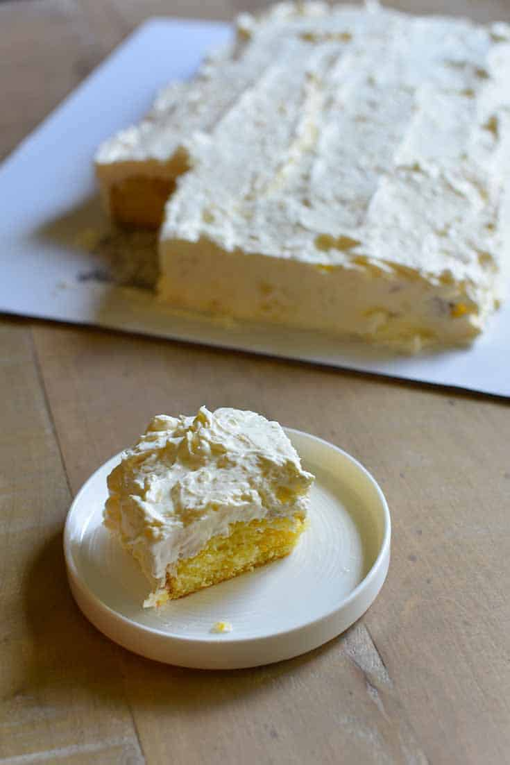 This Pig Out Cake is so tasty you are going to want to pig out on this cake. Pineapple and mandarin oranges make this cake special.