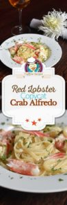 Homemade Red Lobster Crab Alfredo photo collage