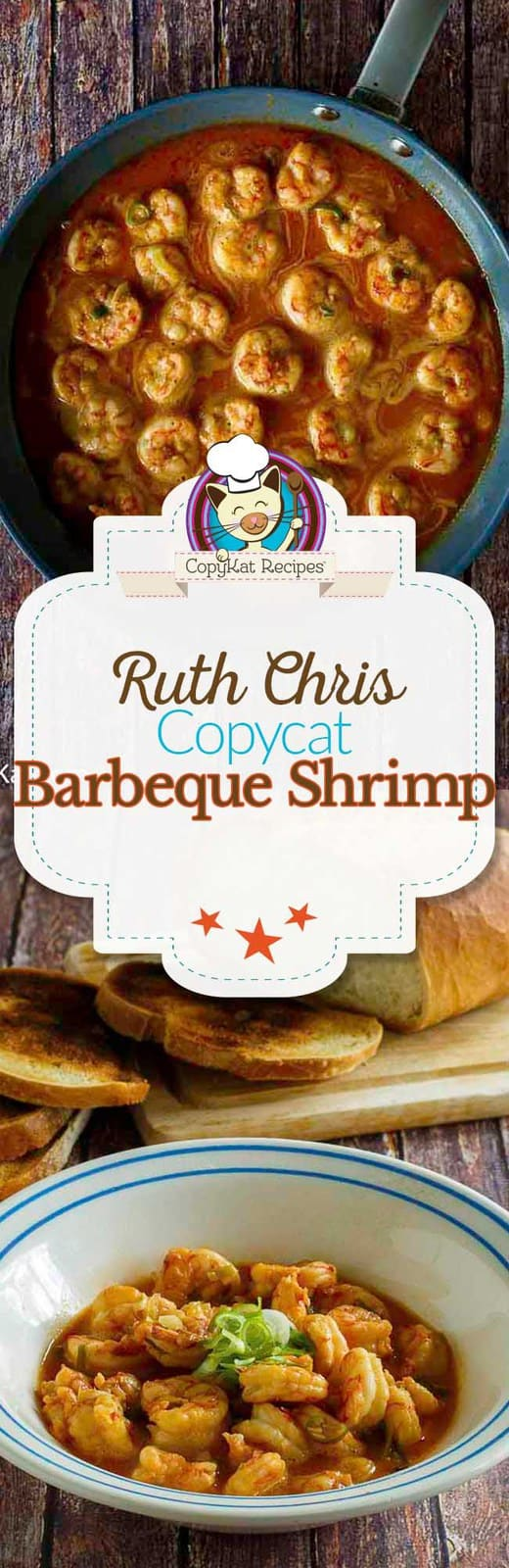 Make your own Ruth Chris Steakhouse Barbeque Shrimp at home with this easy copycat recipe. #meatless #seafood #shrimp #copycat #ruthchris #stovetop #homemade