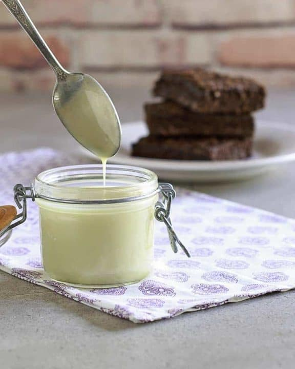 Save money when you use homemade sweetened condensed milk.