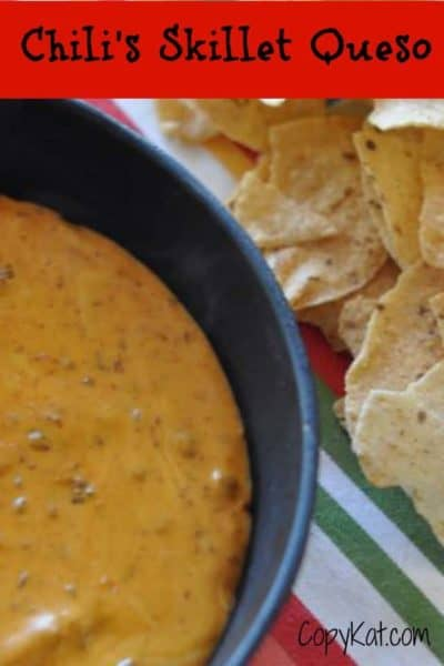 how to make chilis skillet queso