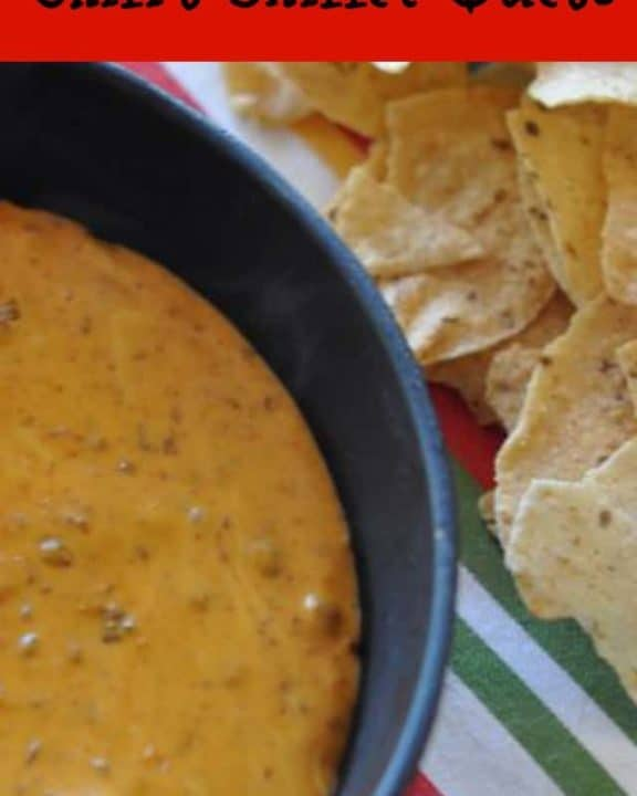 homemade Chili's skillet queso and tortilla chips