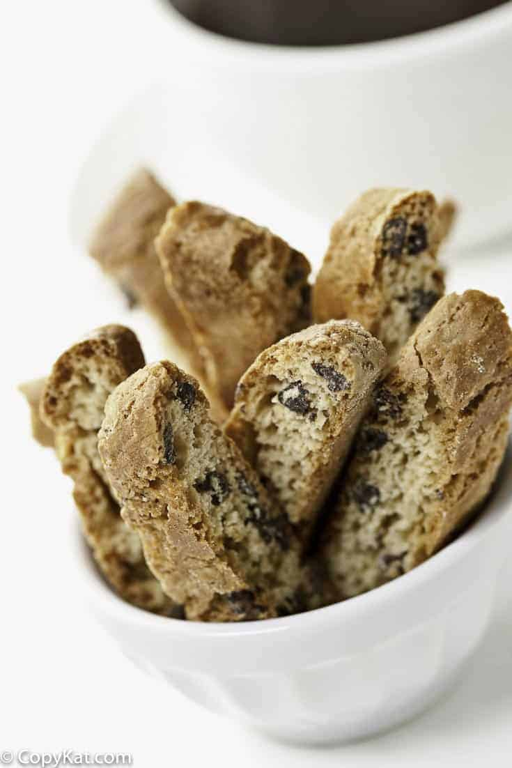 You can make Chocolate Chip Biscotti at home with this easy recipe.