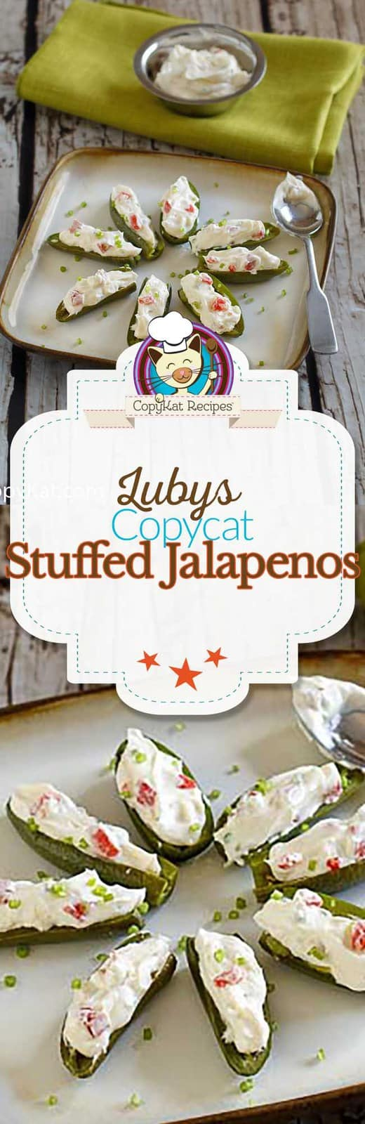 You can make these delicious Luby's stuffed jalapenos at home with this copycat recipe.   This is the perfect party appetizer.
