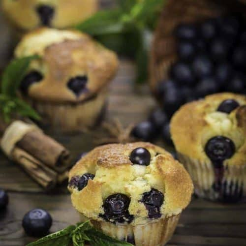 Copycat Blueberry Muffins from Magnolia Bakery.