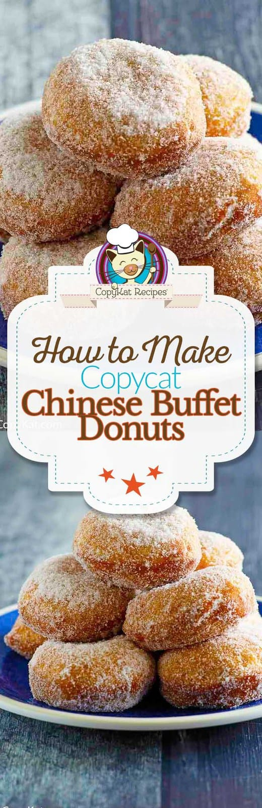 You can recreate Chinese Buffet Style Donuts with this copycat recipe.  These donuts are perfect for dessert and they have just three ingredients.  #3ingredients #threeingredients #donuts #chinese #dessert