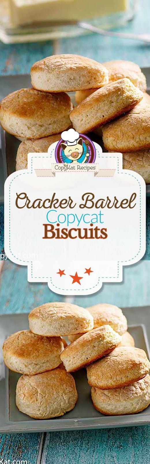 Recreate Cracker Barrel Biscuits at home with this easy copycat recipe. #copycat #copycatrecipe #biscuit #homemade