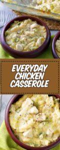 Bowls of chicken casserole