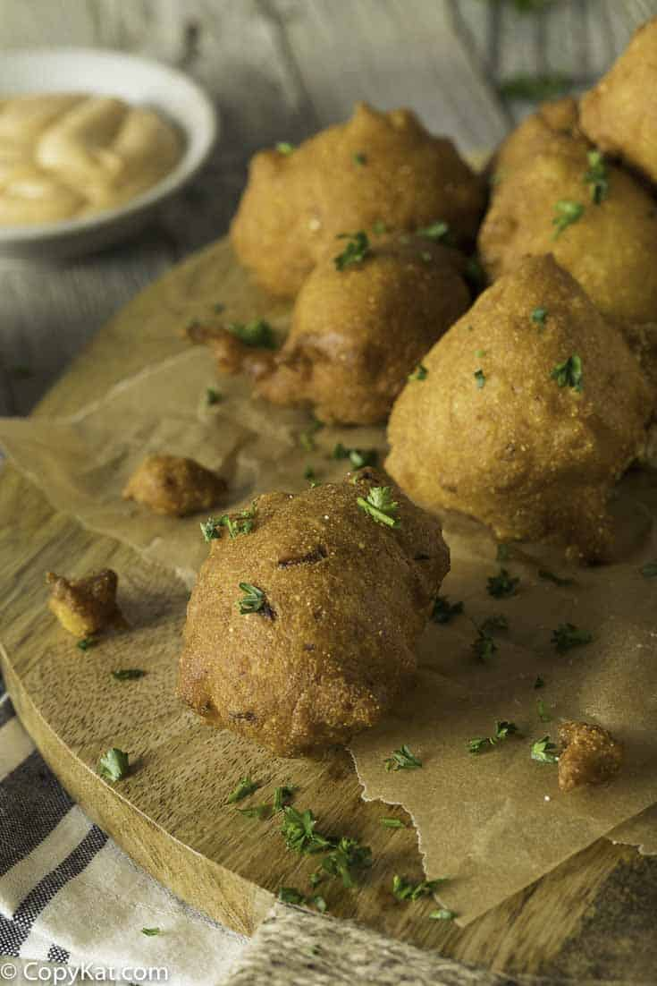 Enjoy homemade hush puppies, these go so well with fried fish and more.