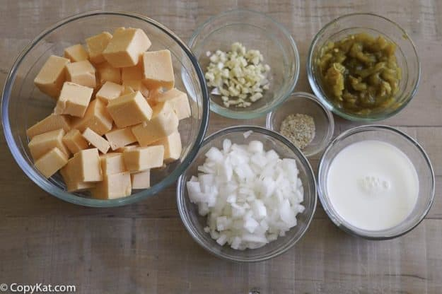 Pappasito's queso ingredients