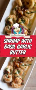 shrimp with basil garlic butter