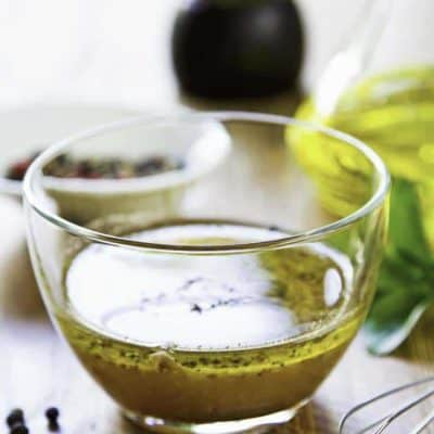 A bowl of award winning homemade vinaigrette