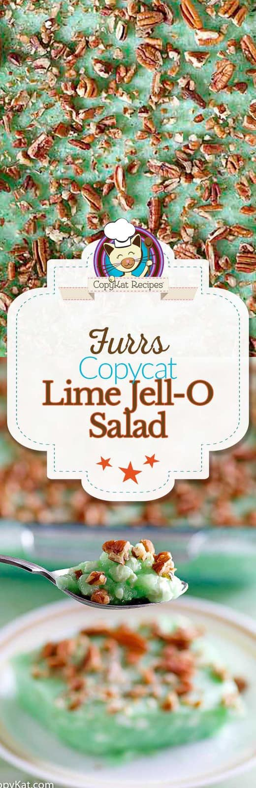 You can recreate the Furr's Lime Jell-O salad with this copycat recipe.  This is the perfect Jell-O salad for any special dinner.