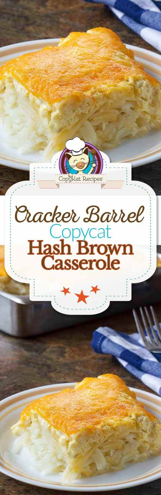 A picture of Cracker Barrel Hashbrown casserole.