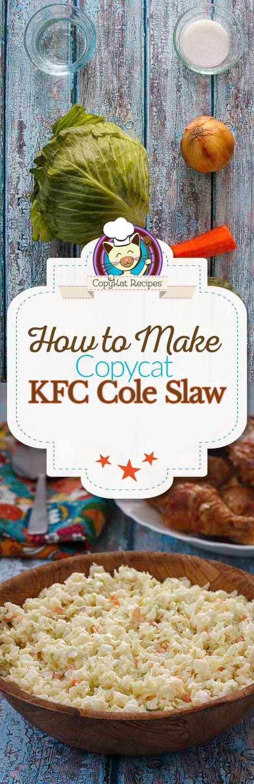 If you've ever had KFC Coleslaw you know it's some of the best coleslaw around. But this copycat recipe is even Better Than KFC Coleslaw!