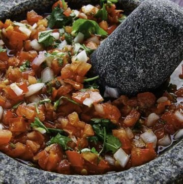 Panchos pico de gallo is super fresh, it is a great side dish that goes well with all sorts of Mexican food.