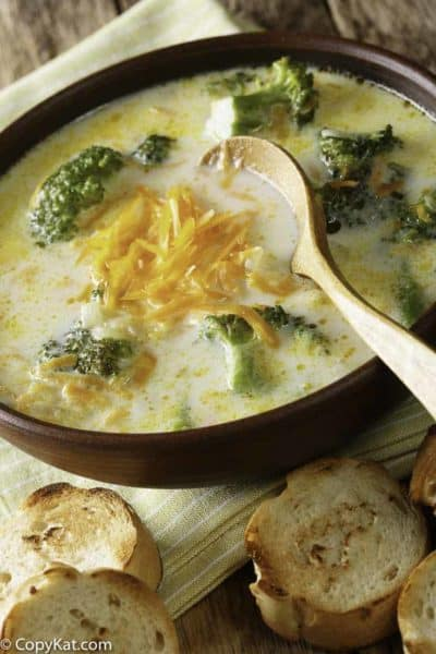 Bowl of homemade Black Eyed Pea Broccoli Cheese Soup
