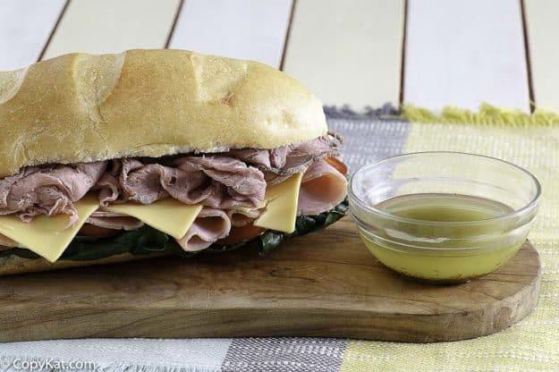 sub sauce and a sub sandwich