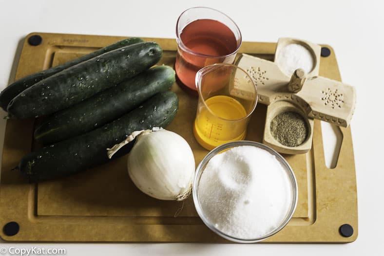 cucumbers onions vinegar