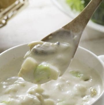 Bowl of Clam Chowder Soup.
