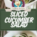 sliced cucumber salad photo collage