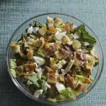 If you love hot bacon salad dressing, you are going to love Simon and Seafort's Salad with Mustard Dressing.