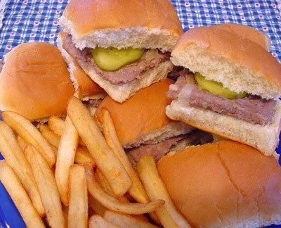 Homemade White Castle Hamburgers