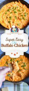 buffalo chicken dip photo collage