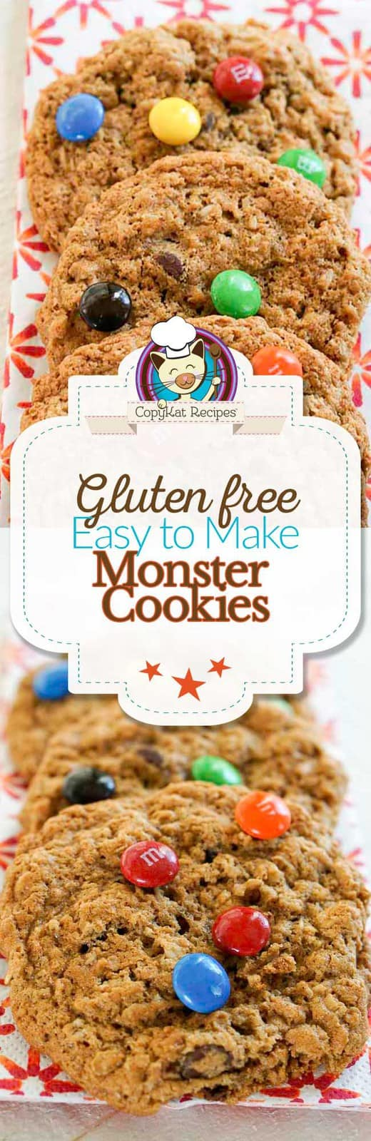 These Gluten-Free Monster cookies are simply delicious. They have everything in them but the kitchen sink!