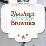 Hersheys chocolate brownies photo collage