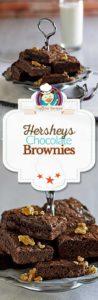 Hersheys chocolate brownies photo collage