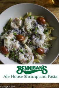 copycat bennigans ale house shrimp and pasta