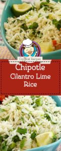 chipotle cilantro lime rice photo collage