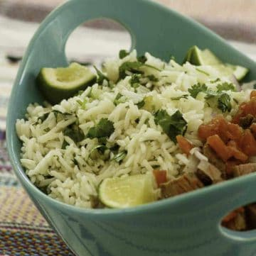 a bowl of cilantro lime rice